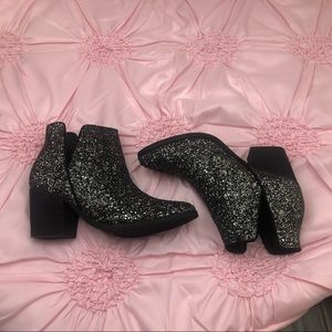 Shoes - Cutout Glitter Booties